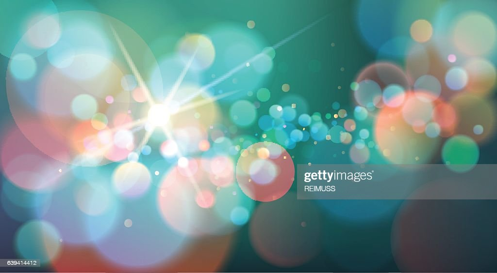 Abstract Bokeh Light Background, Vector Illustration