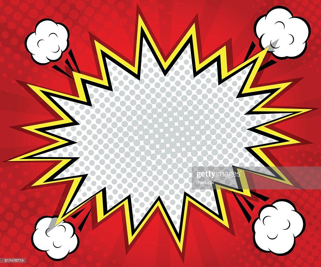abstract boom blank speech bubble pop art, comic book on