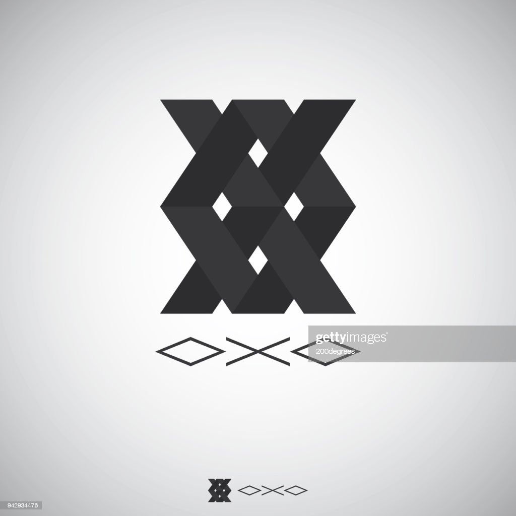 Abstract box logo with Letter X and O sign. Logo Template with flat style for software, apps, product, services brand.