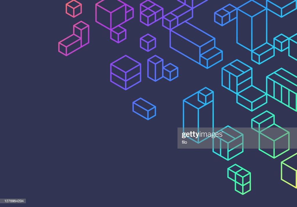 抽象ボックス キューブの背景デザイン : ストックイラストレーション
