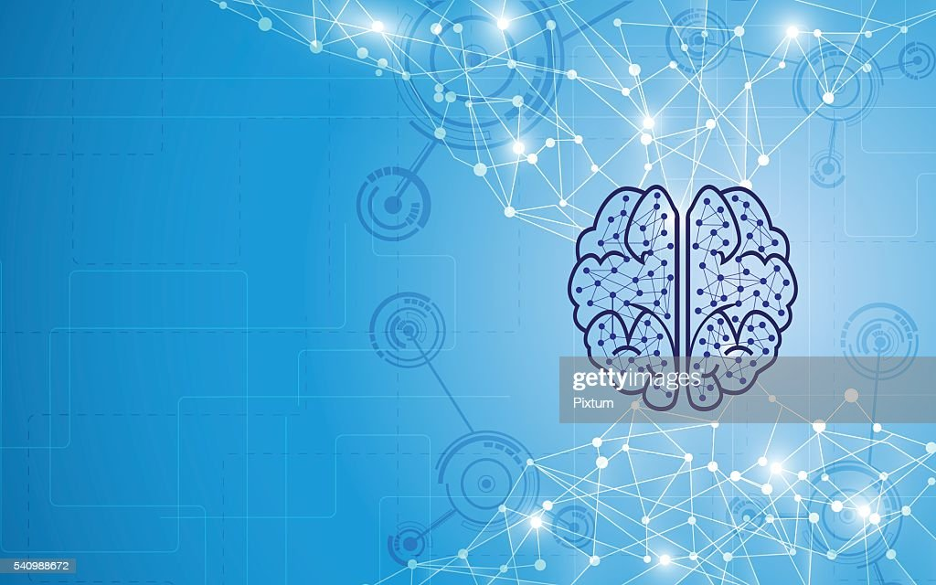 abstract brain tech computer intelligence design concept background