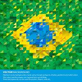 Abstract Brazil Background, Brazilian Flag