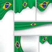 Abstract Brazil Flag, Brazilian Colors (Vector Art)