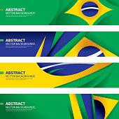 Abstract Brazilian Flag Background, Brazil Art(Vector Art)