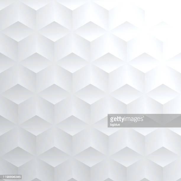 illustrazioni stock, clip art, cartoni animati e icone di tendenza di sfondo bianco brillante astratto - texture geometrica - sfondo bianco