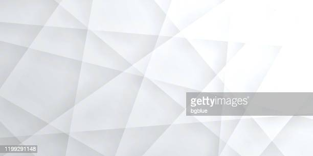 illustrazioni stock, clip art, cartoni animati e icone di tendenza di abstract bright white background - geometric texture - forma geometrica
