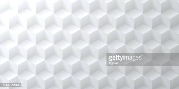 abstract bright white background - geometric texture - three dimensional stock illustrations