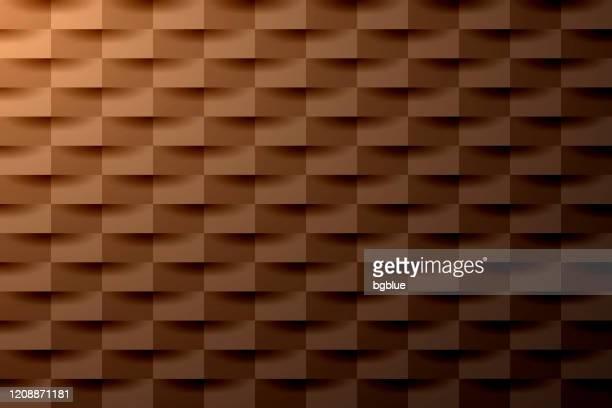 ilustrações de stock, clip art, desenhos animados e ícones de abstract brown background - geometric texture - castanho