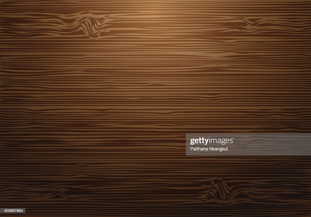 Abstract brown wood wall with light background texture vector illustration.
