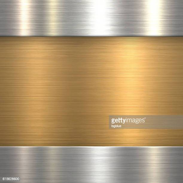 Abstract Brushed Metal Background - Bronze, Copper