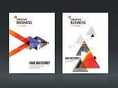 Abstract business Brochure design vector template in A4 size.