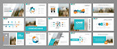 Abstract business brochure set