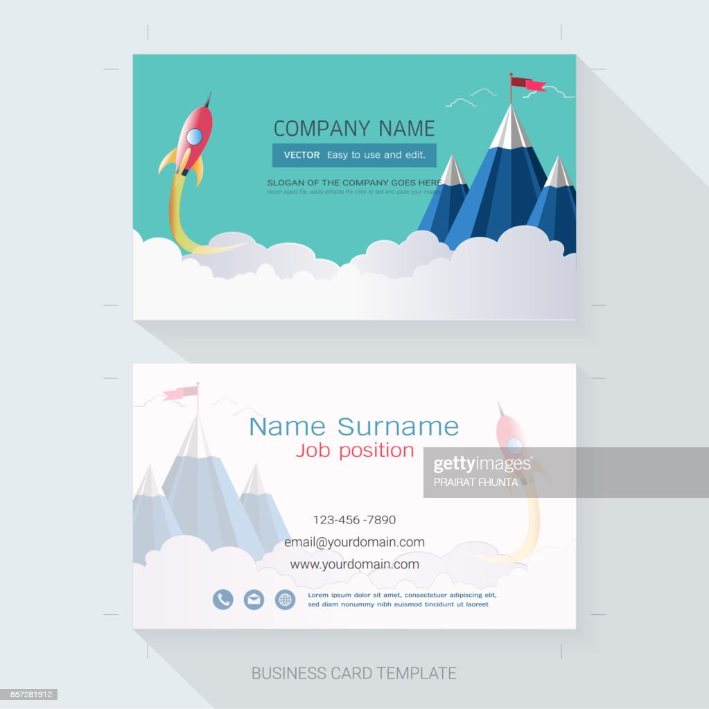 abstract business card design template the style is simple also