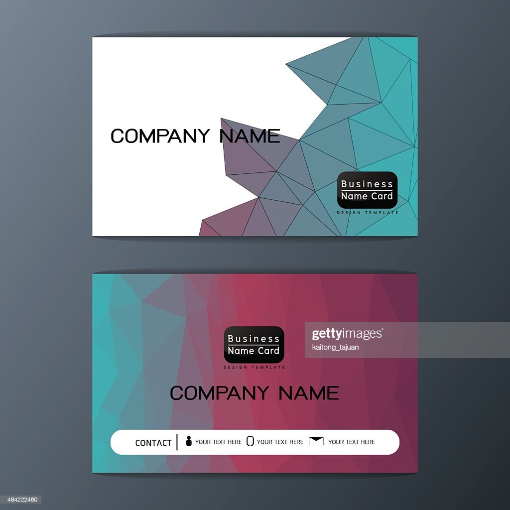 Abstract business card polygon background design, Vector illustration