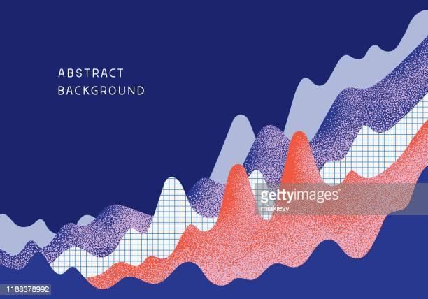 abstrakter business chart-hintergrund - finanzwirtschaft und industrie stock-grafiken, -clipart, -cartoons und -symbole