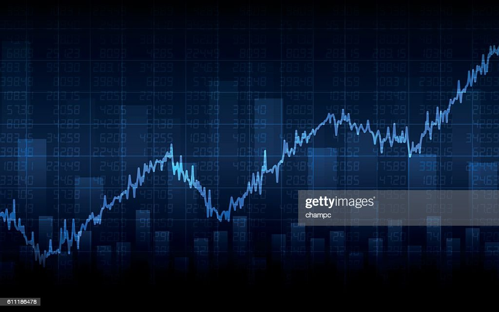 Abstract Business chart on dark blue background (vector)