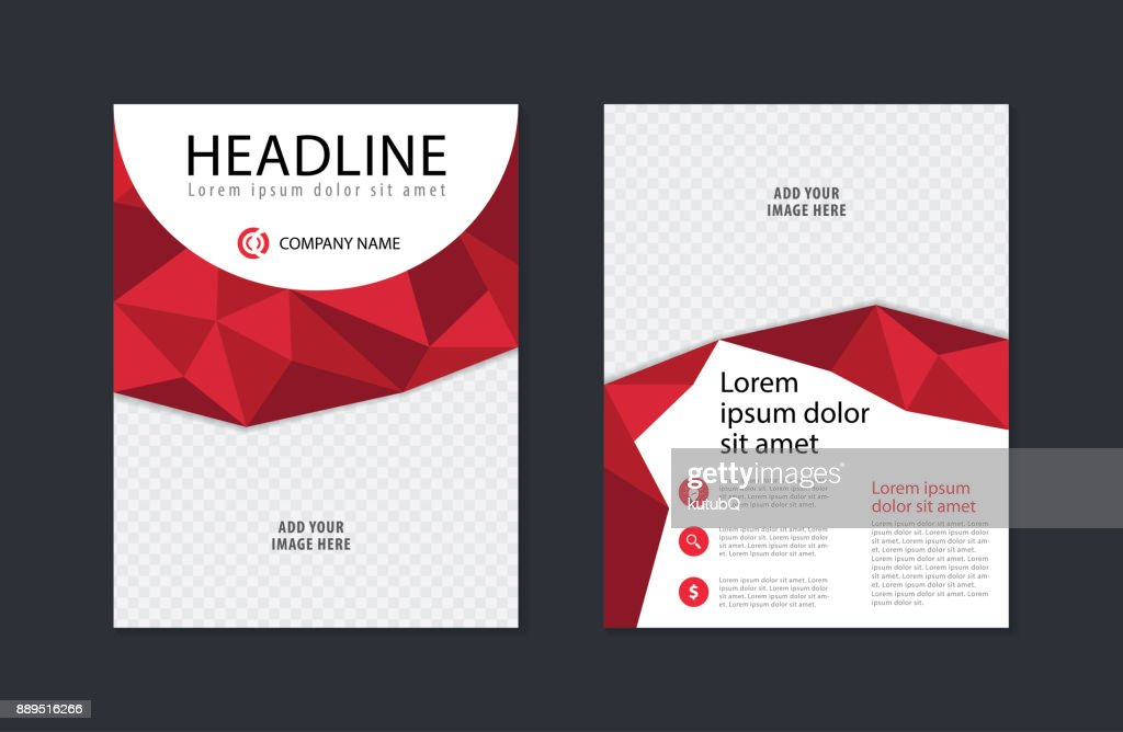 Abstract Business Flyer Design Template Modern Brochure Leaflet Catalog Magazine Layout In