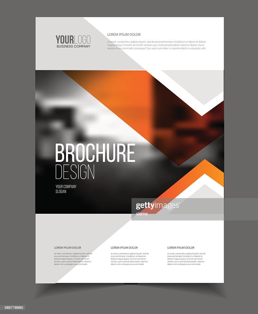 Abstract business Flyer design vector template in A4 size. Docum