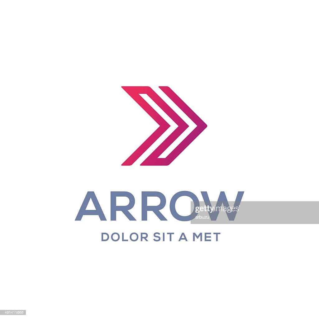Abstract business icon design template with arrow