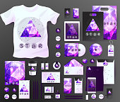 Abstract  business set. Corporate identity templates cosmic
