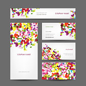 Abstract business templates with colorful designs and text