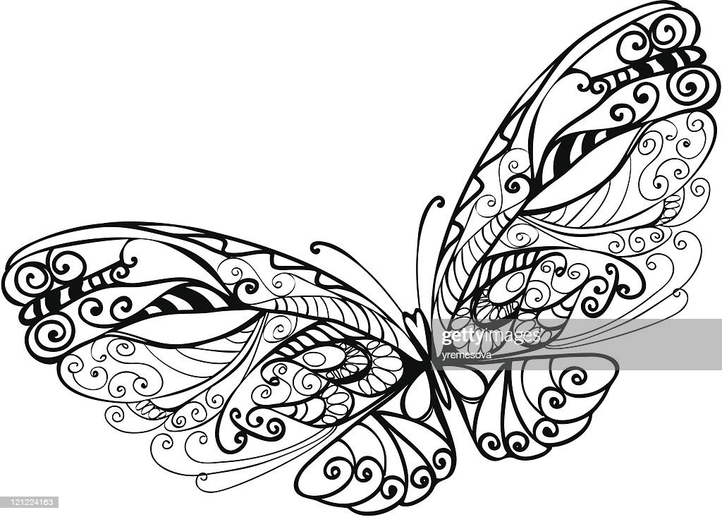 abstract butterfly : stock illustration
