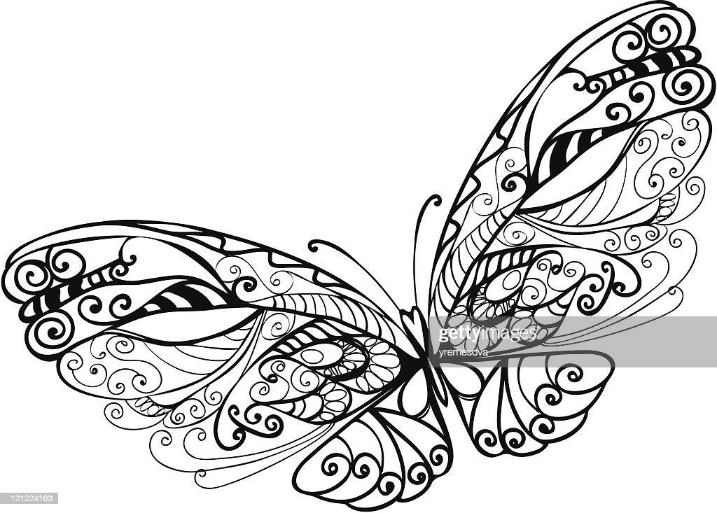 Abstrato de borboleta : Ilustração
