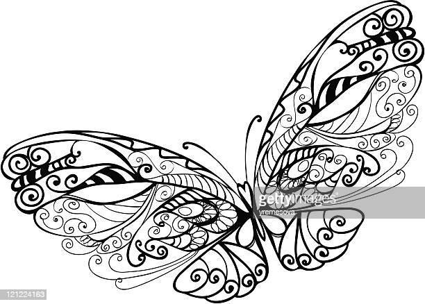 abstract butterfly - animal limb stock illustrations, clip art, cartoons, & icons