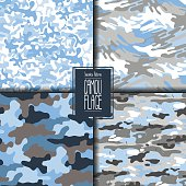 Abstract camouflage pattern set