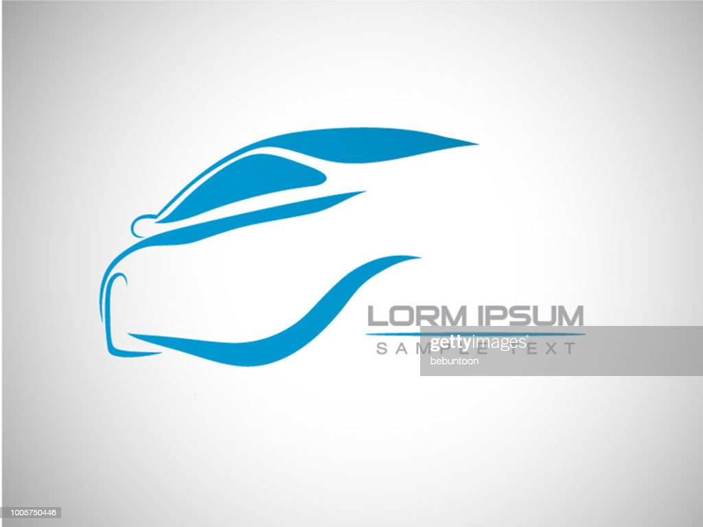 abstract car sport racing logo template vector illustration
