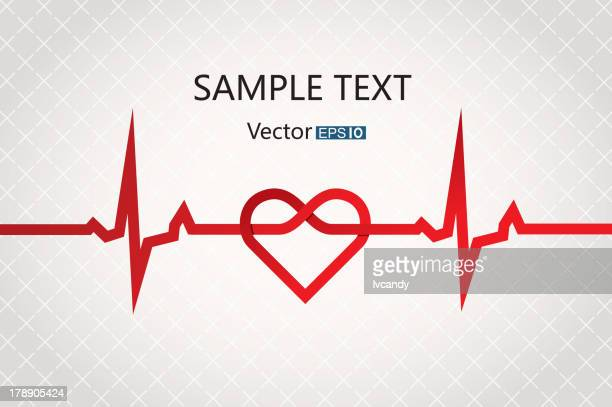 abstract cardiogram - listening to heartbeat stock illustrations, clip art, cartoons, & icons