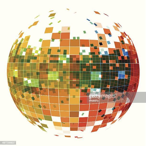 ilustraciones, imágenes clip art, dibujos animados e iconos de stock de patrón abstracto de tecnología de fondo de bola - doble exposicion negocios