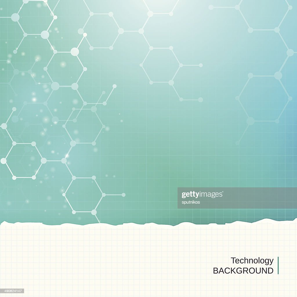 Abstract chemistry molecules technology medical vector background