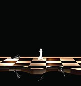 abstract chessboard and figures