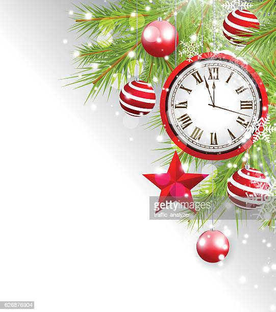 Abstract christmas background - clock