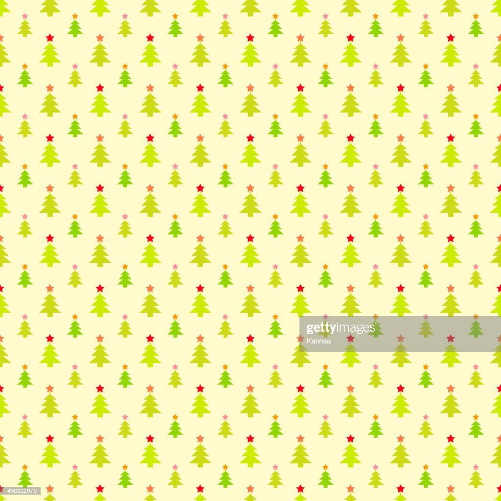 Abstract Christmas Tree Pattern Wallpaper Vector Illustration Art