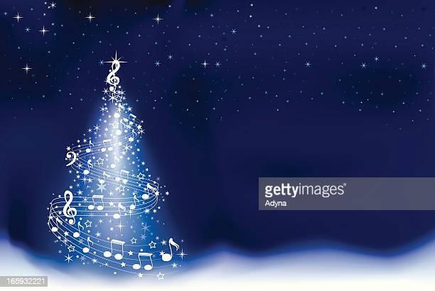 abstract christmas tree - christmas music stock illustrations
