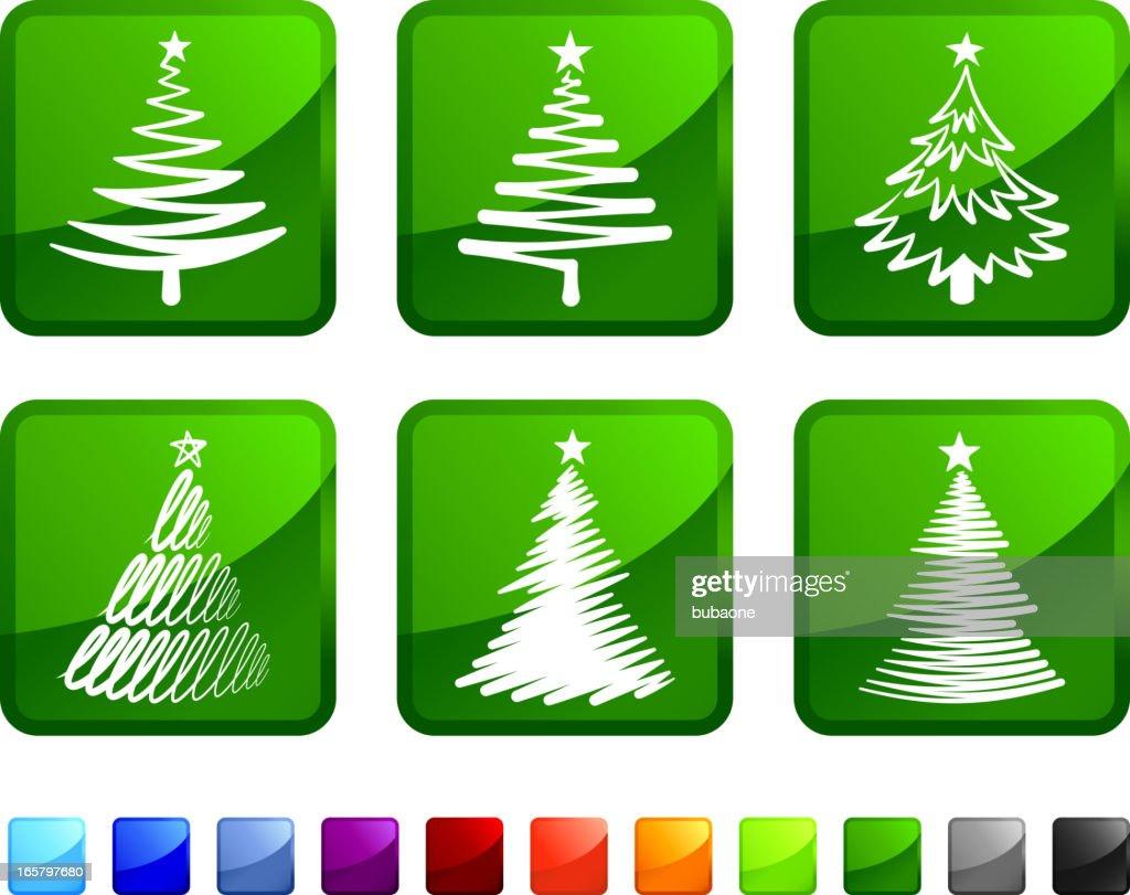 Weihnachten Lizenzfreie Bilder.Abstrakte Weihnachten Tress Lizenzfreie Vektor Icon Set Aufkleber