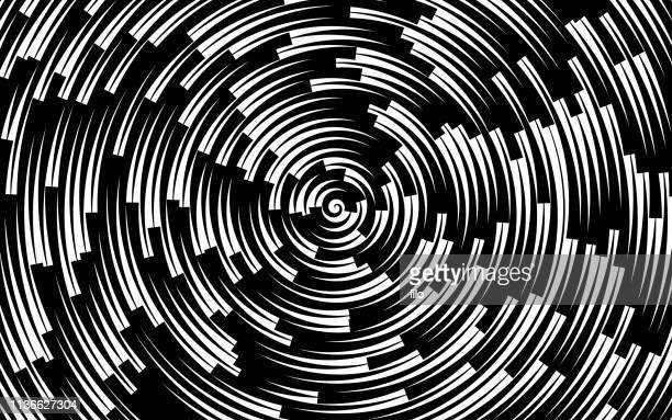 illustrazioni stock, clip art, cartoni animati e icone di tendenza di design di sfondo del cerchio astratto - illusione