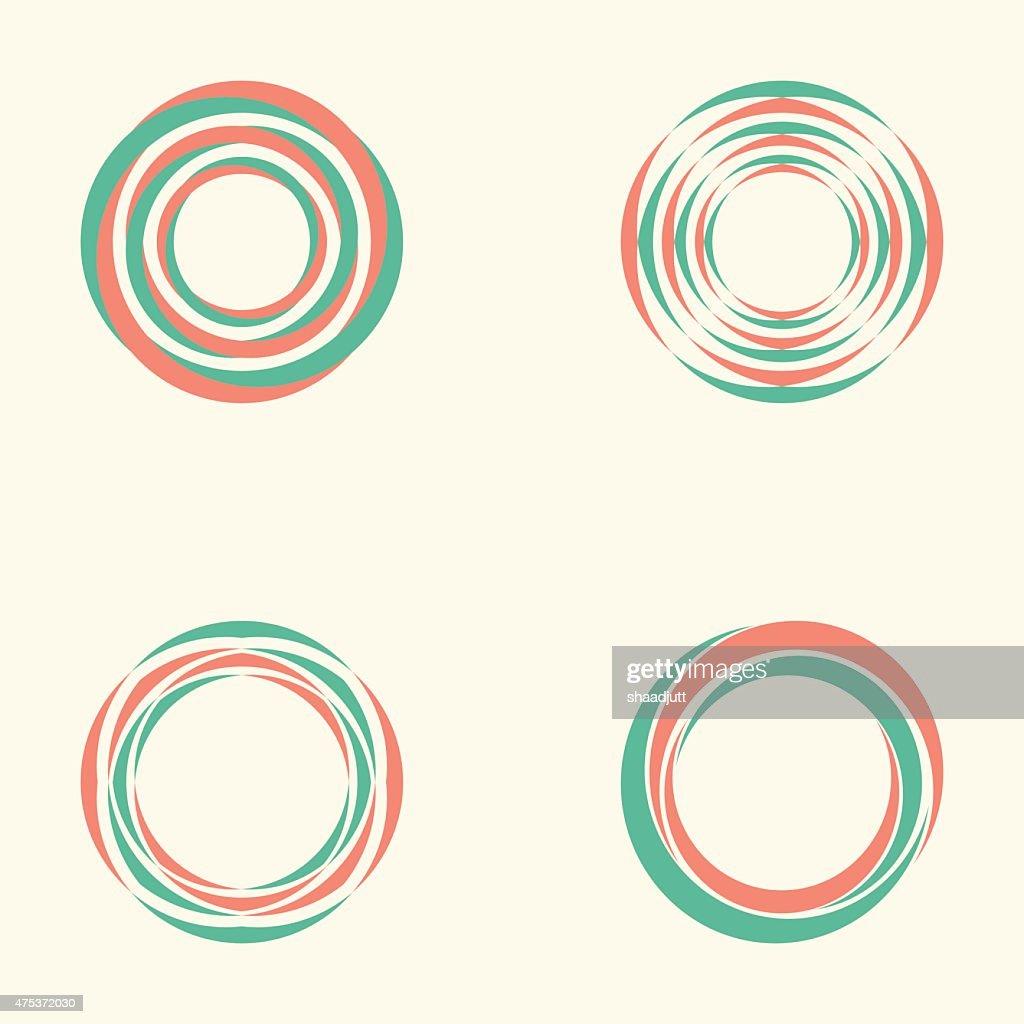 Abstract circle creative signs and symbols, Circles elements
