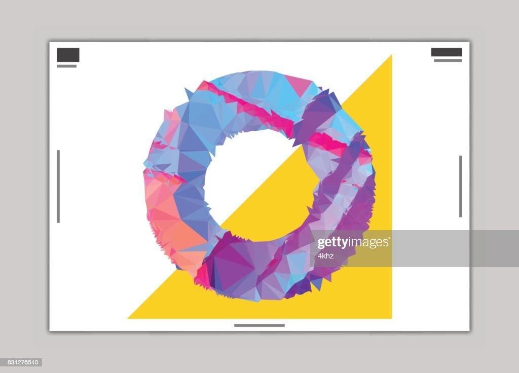 抽象的なサークル デザイン ポスター レイアウト テンプレート ベクトル
