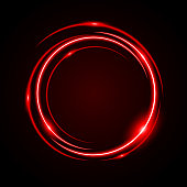 Abstract Circle Light Red Frame