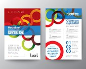 Abstract circle ring background for Poster Brochure Flyer Layout template