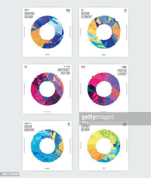 ilustraciones, imágenes clip art, dibujos animados e iconos de stock de círculo abstracto forma diseño gráfico cartel diseño plantilla - moderno