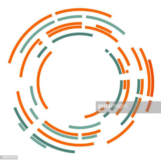 abstract circles frame - zoom in stock illustrations