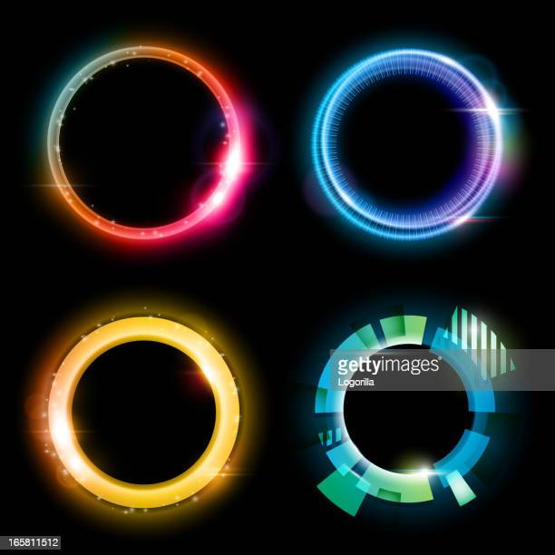 abstract circles - lighting equipment stock illustrations, clip art, cartoons, & icons