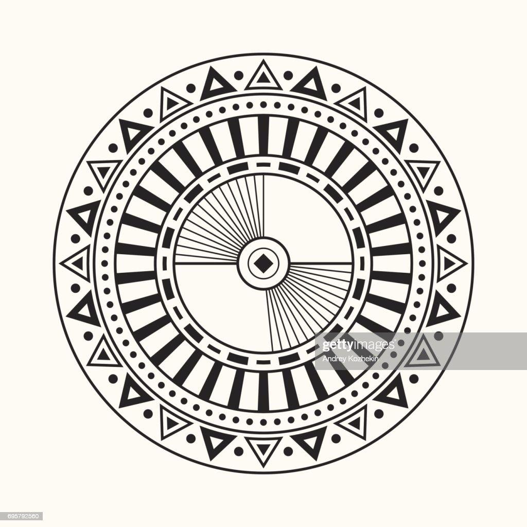 Abstract circular ornament.