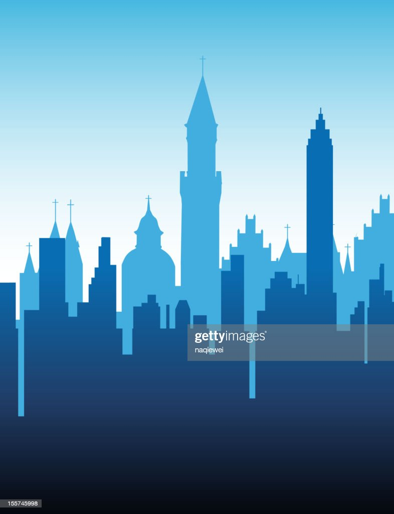 abstract city background vector art getty images