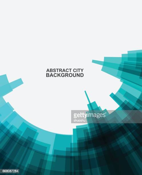 abstract city building pattern background