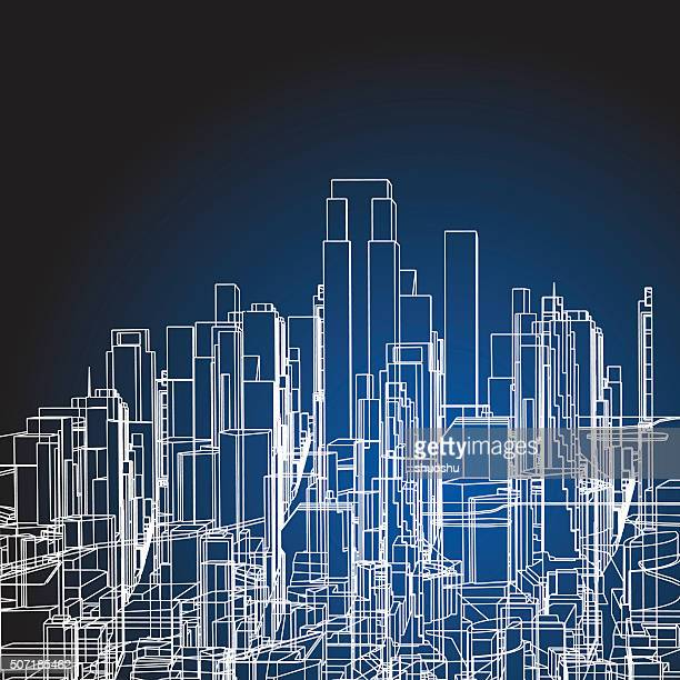 abstract city building structure background